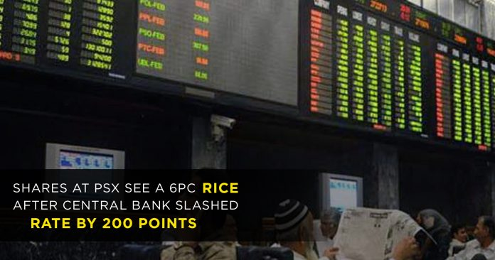 Shares-at-PSX-see-a-6pc-rice-after-central-bank-slashed-rate-by-200-points